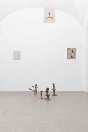Beatrice Meoni & Silvia Vendramel. Slittamenti e Margini. Exhibition view at Galleria Passaggi, Pisa 2018