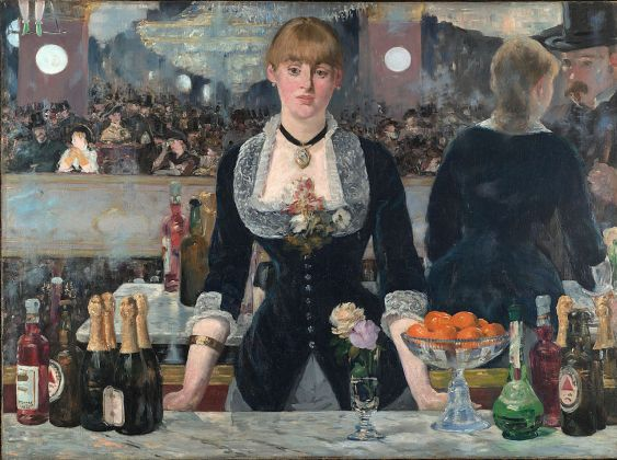 Édouard Manet (1832 - 1883). A Bar at the Folies-Bergère, 1882. Oil on canvas 96 x 130 cm The Courtauld Gallery (The Samuel Courtauld Trust), London