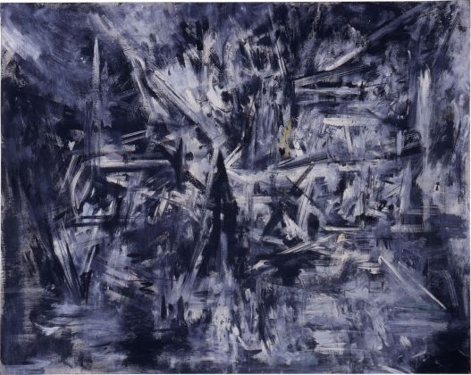 Emilio Vedova, Foresta Vergine Dal Diario del Brasile, 1954, cm 130 x 165, tempera su tela