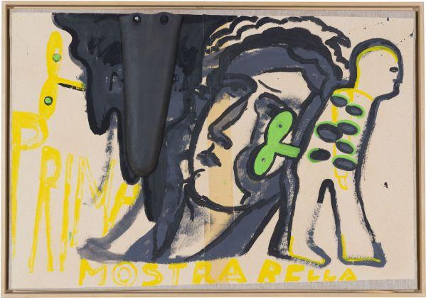 Enzo Cucci, Sandro Chia, Prima Bella Mostra Italiana, 1995, cm 59 x 84 s.c., Tecnica mista su tela