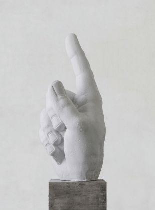 Fabio Viale, Door Release, 2018, White marble, cm 198 x 100 x 55