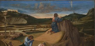 Giovanni Bellini, The Agony in the Garden, about 1460–5, Egg tempera on panel, 80.4 × 127 cm, The National Gallery, London © The National Gallery, Londra