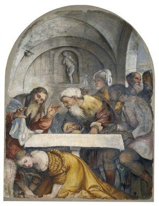 Girolamo Romani detto Romanino, Cena in casa di Simone Fariseo, 1532-33 ca. Brescia, Pinacoteca Tosio Martinengo © Fondazione Brescia Musei