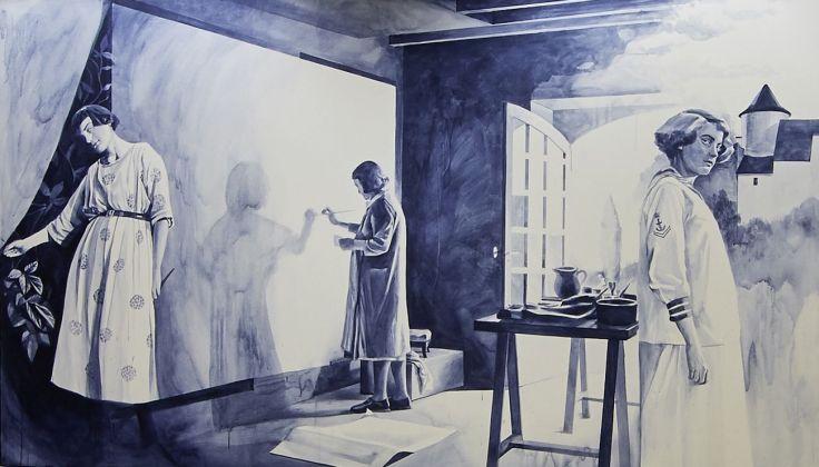 Giulia Andreani, Femme d'intérieur, 2016, acrilico su tela Photo © Nelly Blaya