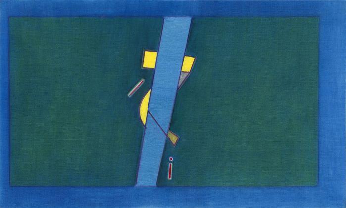 Ho Kan, Abstract 2016-002, 97 x 163 cm, olio su tela, 2016