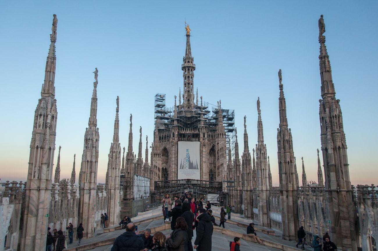Il tetto del Duomo di Milano. Photocredits Irene Fanizza