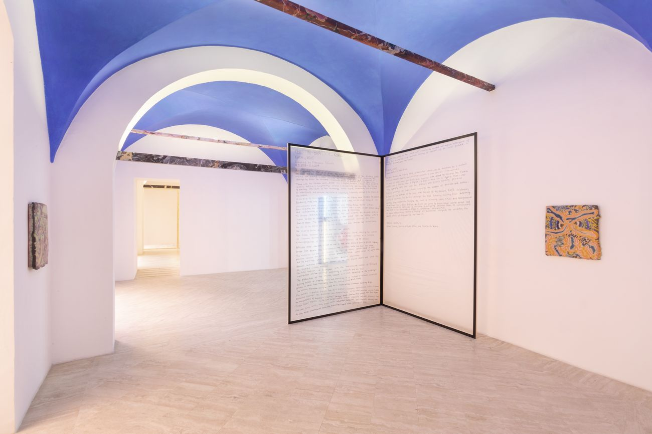 Kerstin Brätsch. _Ruine. Installation view at Fondazione Memmo, Roma 2018. Photo © Daniele Molajoli