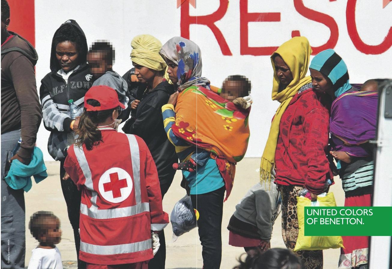 La campagna Benetton di Oliviero Toscani sui migranti, estate 2018