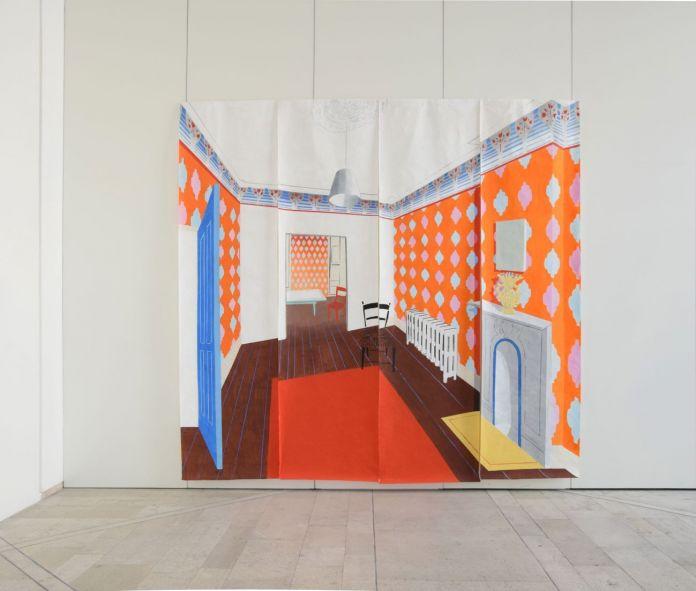 La città provvisoria. Ann Agee, Orange Room. Spazio Murat, Bari 2018