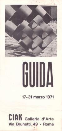 Locandina della mostra di Pietro Guida nel 1971