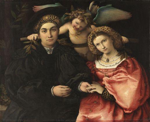 Lorenzo Lotto, Marsilio Cassotti e sua moglie Faustina, 1523. Madrid, Museo Nacional del Prado