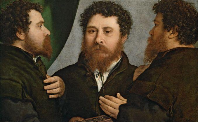 Lorenzo Lotto, Ritratto triplo dell'orefice, 1525-35. Vienna, Kunsthistorisches Museum