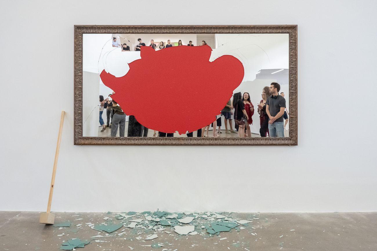 Michelangelo pistoletto oltre lo specchio opening view at galleria continua beijing 2018 - Oltre lo specchio ...