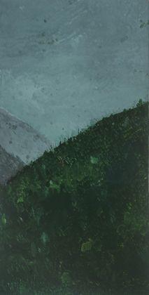 Michele Tocca, Approaching Rain (Henri de Valenciennes), 2017, olio su tela, 142 x 72 cm. Photo Sebastiano Luciano 2018