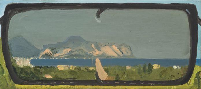 Michele Tocca, Belvedere #4, 2018, olio su tela, 45 x 19 cm. Photo Sebastiano Luciano 2018