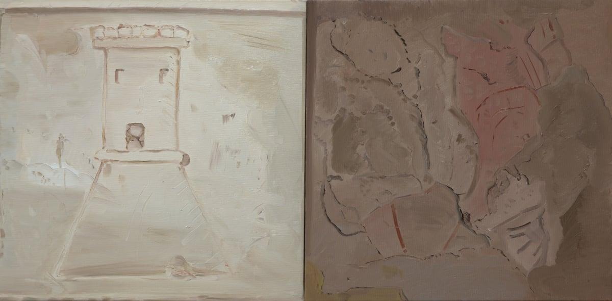 Michele Tocca, Castel/Ieri, 2013, olio su tela, 100 x 50 cm