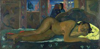 Paul Gauguin, Nevermore, 1897. Olio su tela, 60.5x116 cm. The Courtauld Gallery (The Samuel Courtauld Trust), Londra