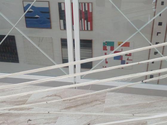 Paulina Herrera Letelier - Momento di lavorazione dei filati presso il Museo MACC
