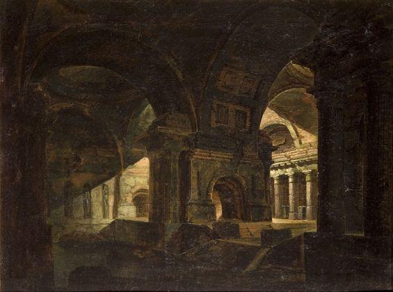 Pelagio Palagi, Capriccio architettonico, collezione privata, 1795-1800, olio su tela