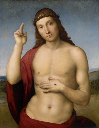 Raffaele Sanzio, Cristo redentore benedicente, 1505-06 ca. Brescia, Pinacoteca Tosio Martinengo © Fondazione Brescia Musei