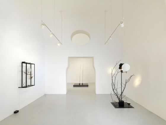 Rebecca Horn. Passing the Moon of Evidence. Exhibition view at Studio Trisorio, Napoli 2018