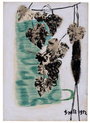 Renato Birolli, Vigna, 1952, cm 100 x 70, Tecnica mista su cartone