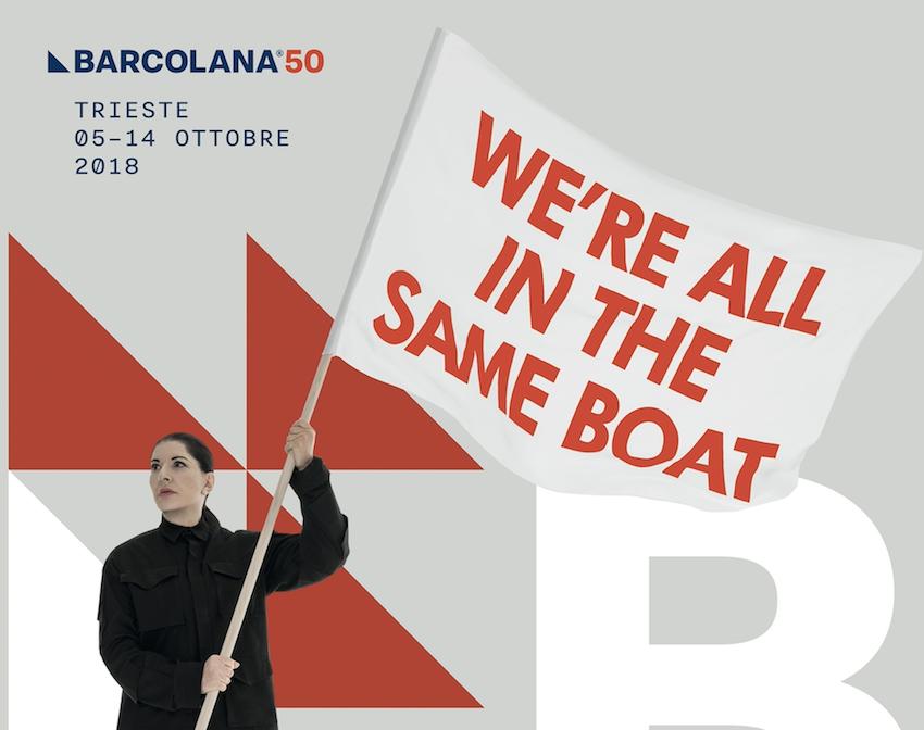 Marina Abramović, We're all in the same boat, manifesto per Barcolana50, dettaglio