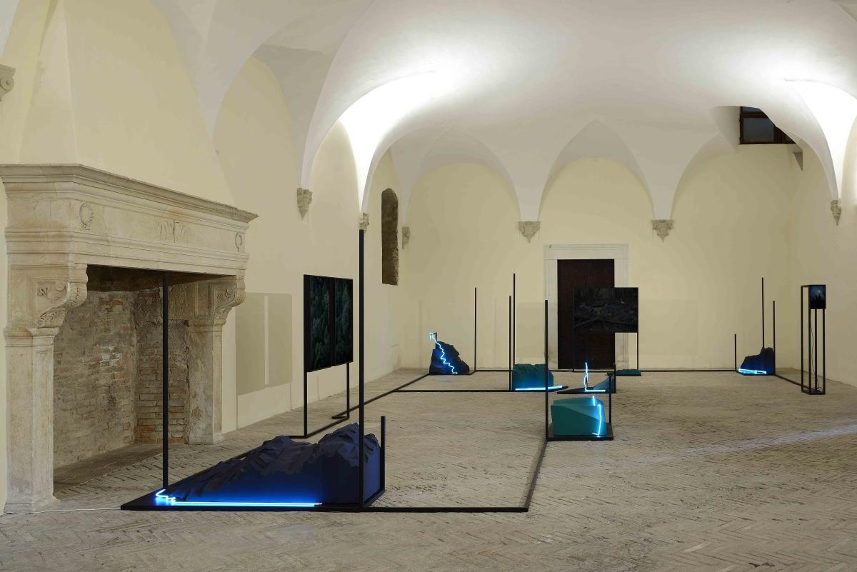 Silvia Mariotti, Tre notturni, exhibition view at Spazio K, Palazzo Ducale, Urbino 2018