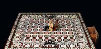 Tavola da gioco pieghevole, costa del Malabar, India, tardo XVII sec. Collezione privata, Lisbona. Photo credits Massimo Listri