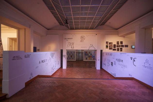 The Residential Art Space invites Dan Perjovschi, Curatorial Studies KASK © Yannick Sas