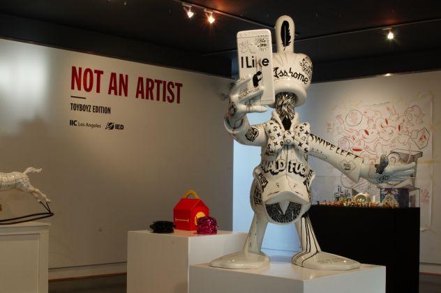 Veduta mostra NOT AN ARTIST Toyboyz Edition, Istituto Italiano di Cultura, Los Angeles