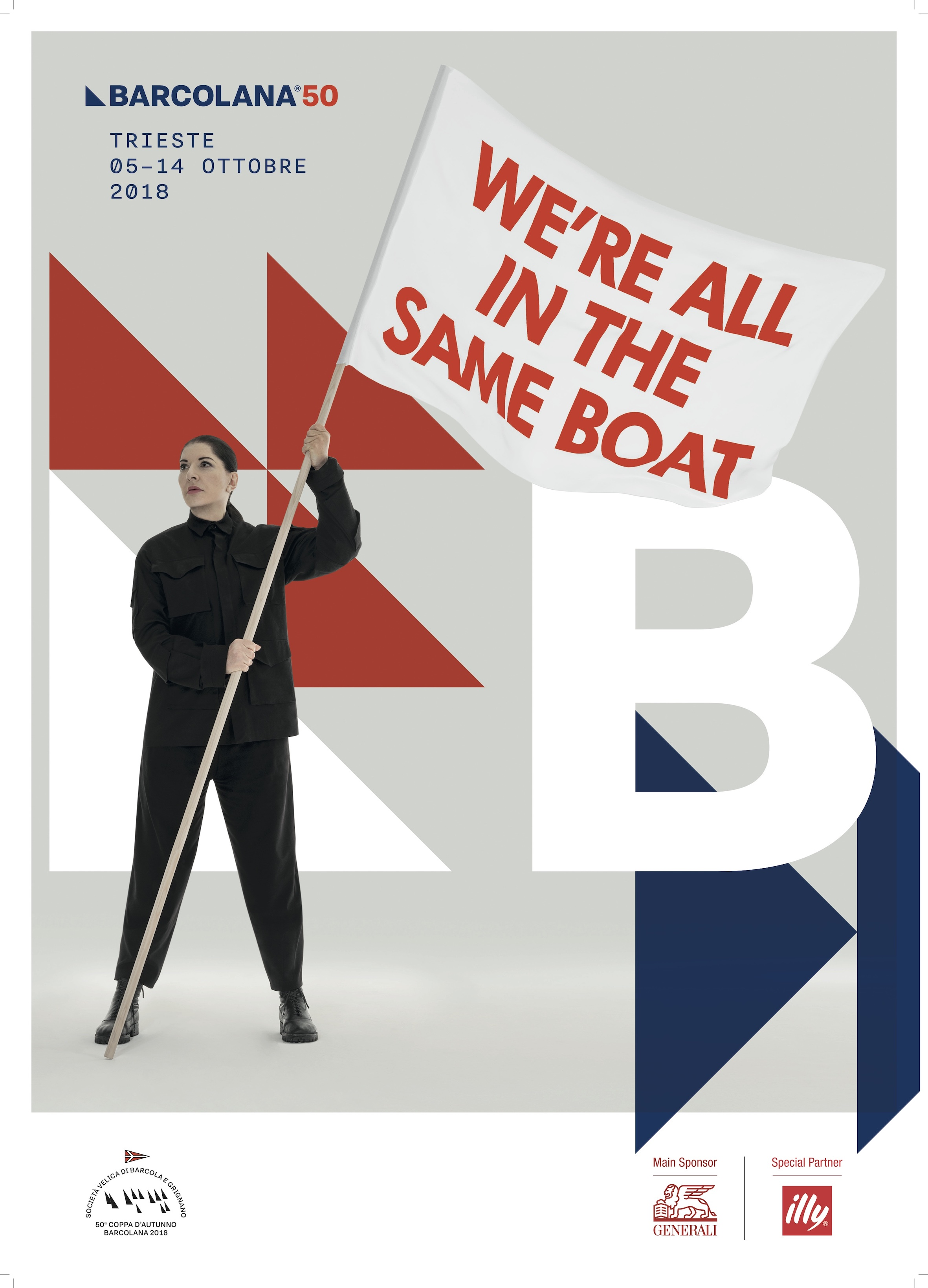 Marina Abramović, We're all in the same boat, manifesto per Barcolana50