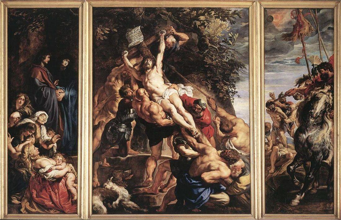 rubens l erezione della croce ny