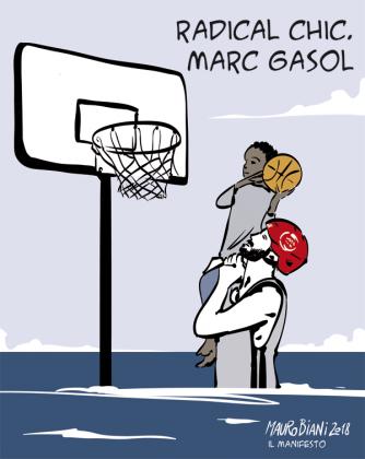 La vignetta di Mauro Biani per Il Manifesto