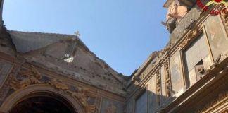Crollo chiesa San Giuseppe dei Falegnami, immagine diffusa dai vigili del fuoco