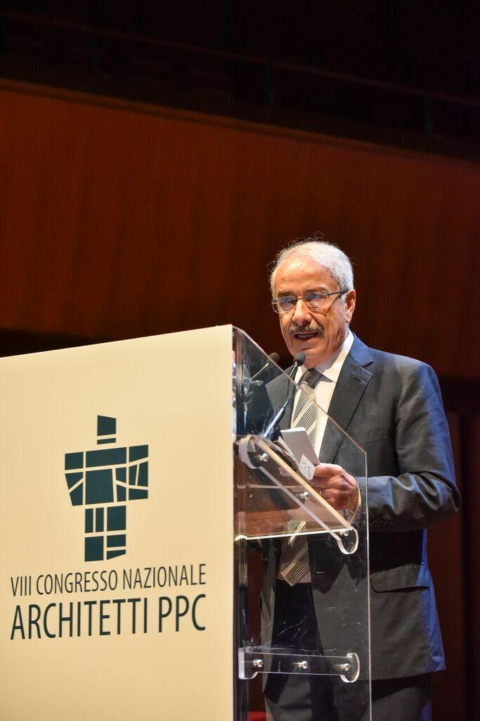 Giuseppe Cappochin, Presidente del Consiglio Nazionale Architetti, Pianificatori, Paesaggisti e Conservatori, durante al Congresso nazionale Architetti – Ph. Moreno Maggi
