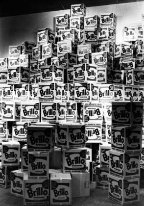 Brillo Boxes in the Andy Warhol exhibition at Moderna Museet in Stockholm, 1968. Photo Nils-Göran Hökby