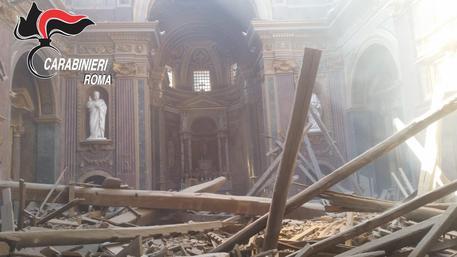 Crollo chiesa San Giuseppe dei Falegnami, immagine diffusa dai Carabinieri