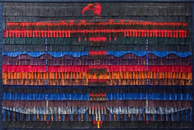 Abdoulaye Konate, Calao, 2016. Courtesy Primo Marella Gallery