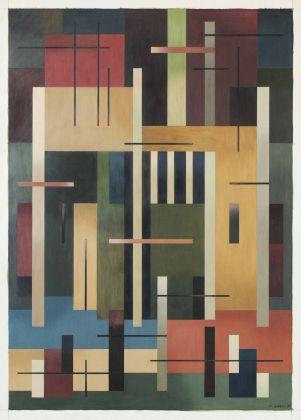 Aldo Galli, Composizione, 1955. Collezione Merlini