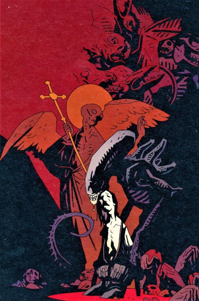 Aliens Salvation, disegno di Mike Mignola, colori di Dave Stewart