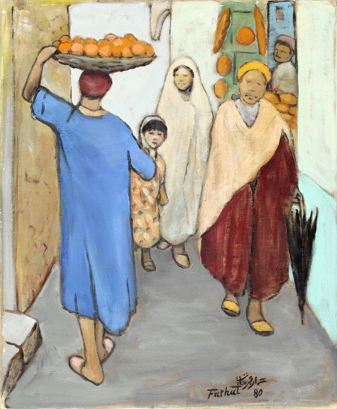 Ammar Farhat, Orange seller in the souk, 1980. Courtesy Elmarsa