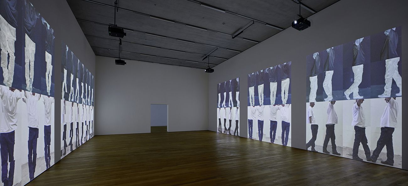 Bruce Nauman, Contrapposto Studies, i through vii, 2015-2016. Installation view at Schaulager, Münchenstein-Basel 2018. Emanuel Hoffmann Foundation & MoMA © Bruce Nauman - 2018, ProLitteris, Zurich. Photo Tom Bisig, Basel