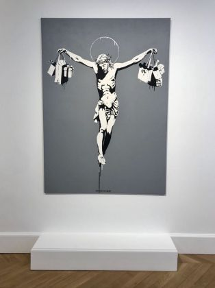 Banksy. Greatest Hits 2002–2008. Installation view at Lazinc Sackville Gallery, Londra 2018