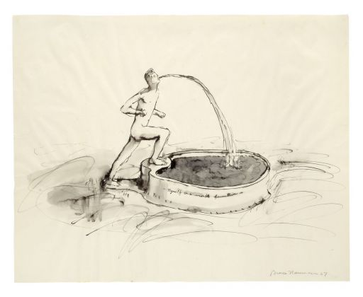 Bruce Nauman, Myself as a Marble Fountain, 1967. Emanuel Hoffmann Foundation. Photo Kunstmuseum Basel, Martin P. Böhler © Bruce Nauman - 2018, ProLitteris, Zurich