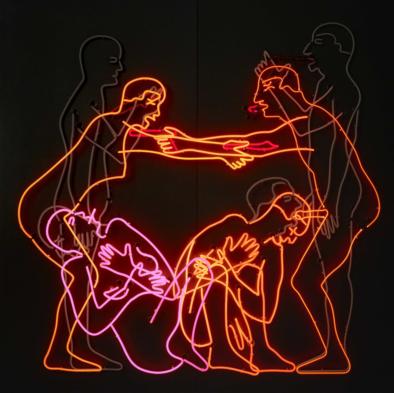 Bruce Nauman, Sex and Death by Murder and Suicide, 1985. Emanuel Hoffmann Foundation. Photo Bisig & Bayer, Basel, © Bruce Nauman - 2018, ProLitteris, Zurich