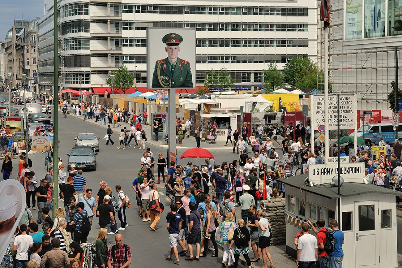 Checkpoint Charlie. Photo Friedhelm Denkeler