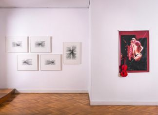 Contrappunti # 1, Vettor Pisani _ Marco Fusinato. Exhibition view at Istituto Italiano di Cultura, Melbourne 2018