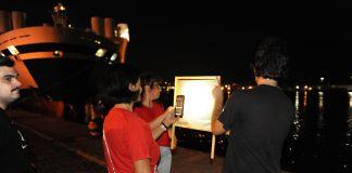 Morse Action, l'azione di Maria Domenica Rapicavoli, Luca Prete e Katiuscia Pompili sul porto di Catania