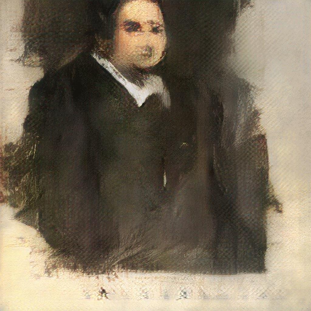 I quadri realizzati dall'algoritmo prodotto dal collettivo francese Obvious, Edmond De Belamy